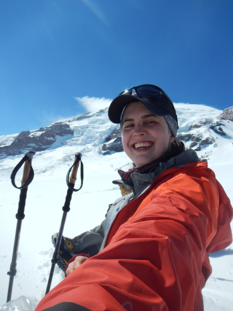 Amelisa Kaiser on Mount Rainier as part of the Recovery Beyond Fundraising Climb 2019.